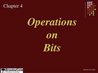 Operations on Bits
