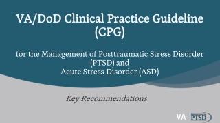 Post Traumatic Stress Disorder PTSD  Engagement