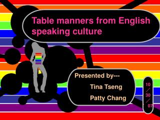Table manners from English speaking culture