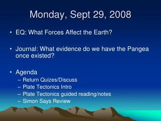 Monday, Sept 29, 2008
