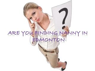 Best Edmonton Nanny services
