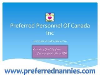 Preferred Personnel of Canada Inc.