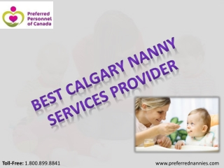 Best Nannies Services in Calgary