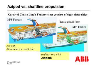 Azipod vs. shaftline propulsion