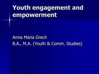 Youth engagement and empowerment