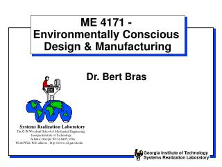 ME 4171 -  Environmentally Conscious  Design  Manufacturing