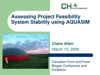 Assessing Project Feasibility System Stability using AQUASIM