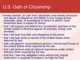 U.S. Oath of Citizenship