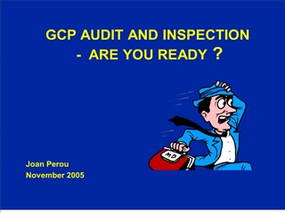 gcp audit and inspection   -  are you ready