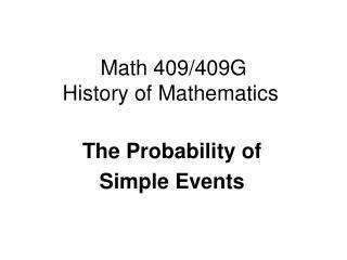 Math 409