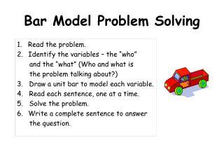 Bar Model Problem Solving