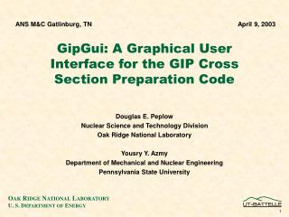 GipGui: A Graphical User Interface for the GIP Cross Section Preparation Code