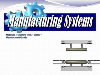 Materials  Machine Time  Labor   Manufactured Goods