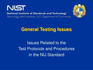 General Testing Issues