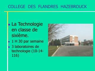 COLLEGE  DES  FLANDRES  HAZEBROUCK