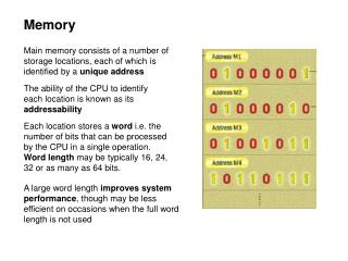 memory configurations for intel cpu s