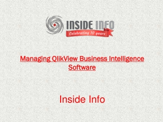 Managing QlikView Business Intelligence Software