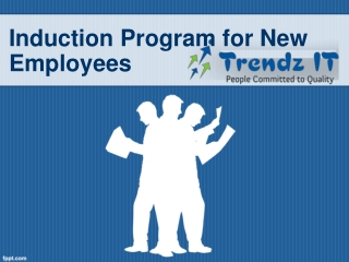 Induction Program for New Employees