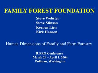FAMILY FOREST FOUNDATION