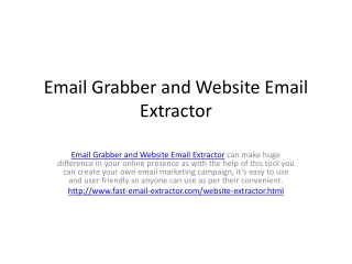 Email Grabber and Website Email Extractor