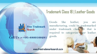 Trademark Class 18 | Leather Goods