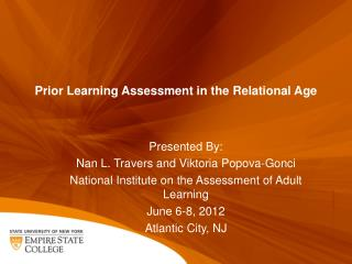 Prior Learning Assessment in the Relational Age