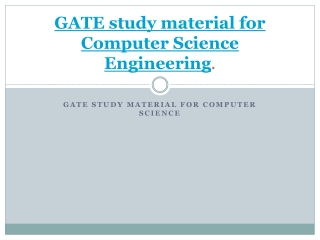 GATE study material for Computer Science