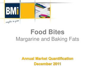 Food Bites Margarine and Baking Fats