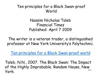 Ten principles for a Black Swan-proof World