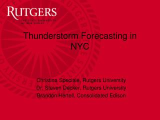 Thunderstorm Forecasting in NYC