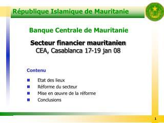 R publique Islamique de Mauritanie