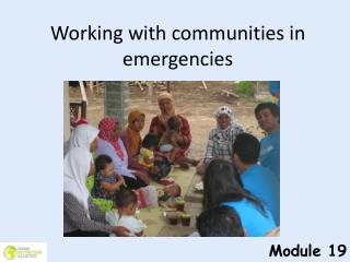 Working with communities in emergencies