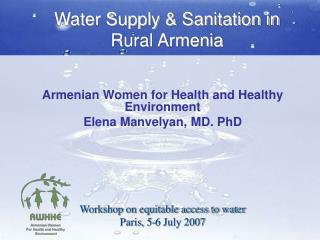 Water Supply  Sanitation in Rural Armenia