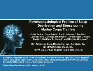 Psychophysiological Profiles of Sleep Deprivation and Stress during  Marine Corps Training  Chris Berka1, Gene Davis1, R