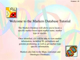 Welcome to the Markers Database Tutorial