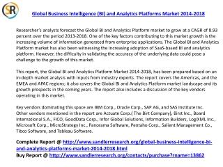 Global Business Intelligence (BI) and Analytics Platforms Ma