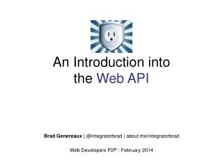 An Introduction into the Web API