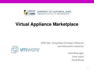 Virtual Appliance Marketplace