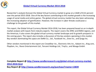 Global Virtual Currency Market 2018 Forecast in New Research
