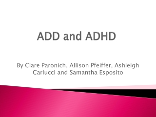 add and adhd