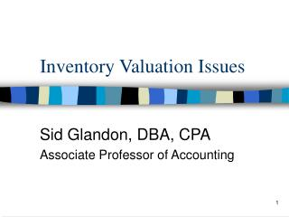 Inventory Valuation Issues