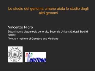 Lo studio del genoma umano aiuta lo studio degli altri genomi