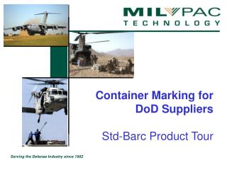 Container Marking for DoD Suppliers    Std-Barc Product Tour