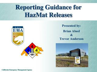 Reporting Guidance for HazMat Releases