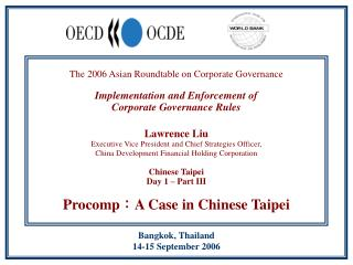The 2006 Asian Roundtable on Corporate Governance  Implementation and Enforcement of  Corporate Governance Rules   Lawre