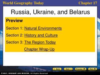 Russia, Ukraine, and Belarus