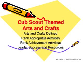 Cub Scout Themed Arts and Crafts