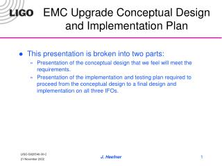 emc upgrade conceptual design and implementation plan