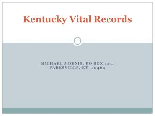 Kentucky Vital Records