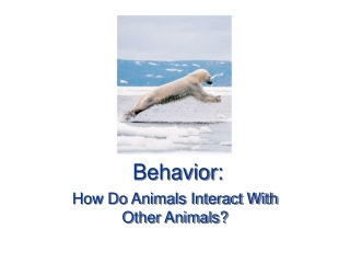 : Communication: Channels and Functions  --  Ethology